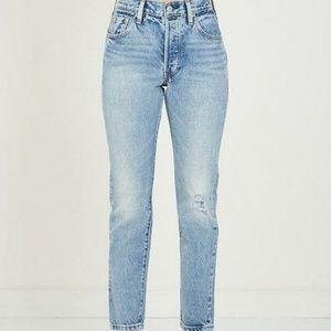 Levi's 501 Skinny Jeans Selvedge Summer Dune Wash